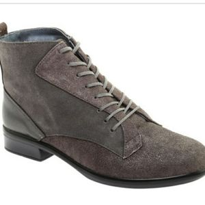 NAOT Grey Mistral Metallic Ankle Booties